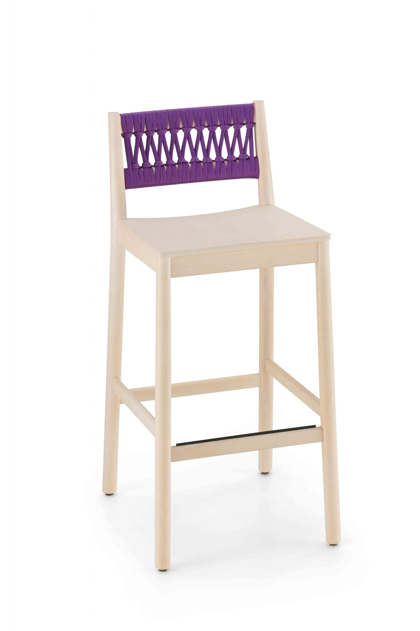 0028-IN-H76-JULIE-stool-in-beech-painted-and-seat-wood,-back-to-rope,-stool-in-beech-painted-and-wood-seat,-back-in-rope