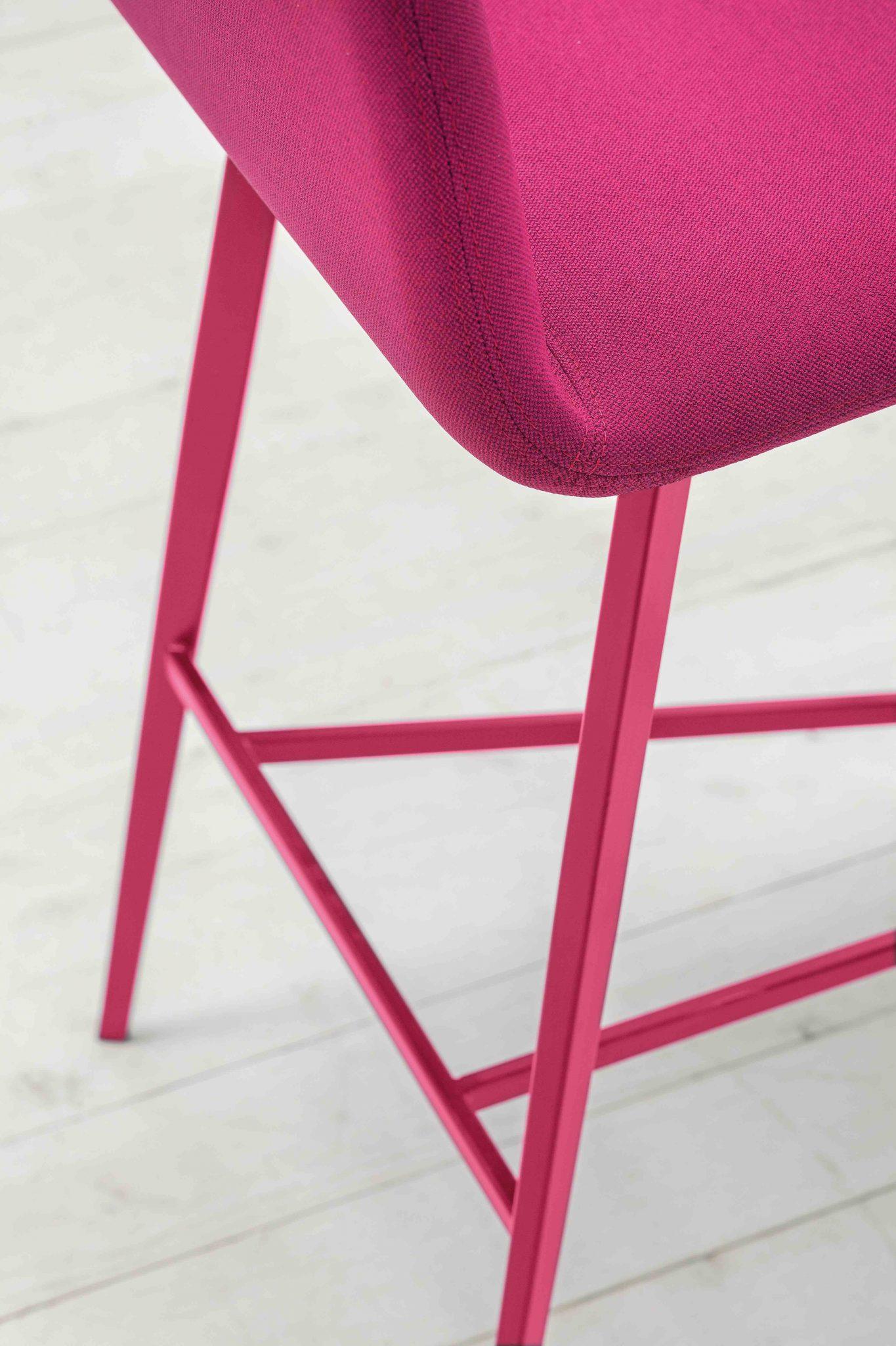 0032-MET-BARDOT-stool-base-metal-and-shell-padded -, - stool-Bardot-metal-base-painted-and-shell-padded