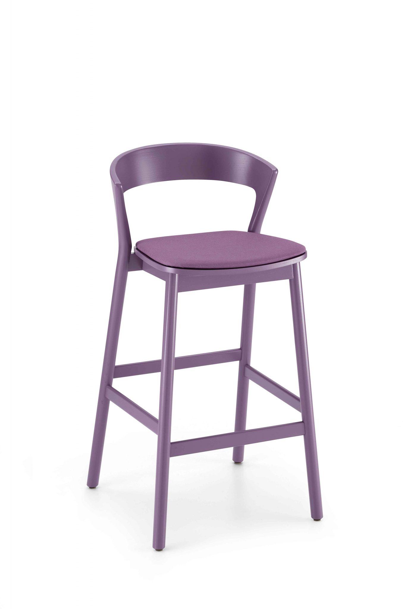 0075-IMB-EDITH-stool-in - wood-frame-and-padded-seat -, - stool-with-structure-in-wood-and-seat-padded